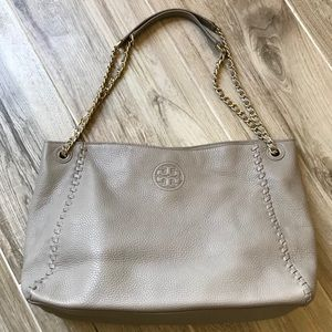 Tory Burch Marion Chain-Strap Slouchy Tote Bag